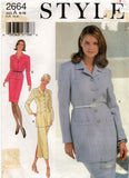 Style 2664 Womens Tailored Skirt Suit 1990s Vintage Sewing Pattern Size 6 - 16 UNCUT Factory Folded