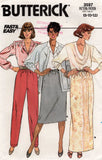 butterick 3597 80s skirt and pants