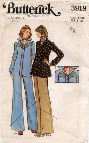 butterick 3918 70s maternity wear
