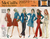 McCall's 2007 Womens Jacket Vest Wrap Skirt & Pants 1960s Vintage Sewing Pattern Size 10 Bust 32 1/2 inches