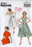Butterick 6682 Womens Reissued 1950s Halter Rockabilly Dress & Jacket Sewing Pattern Size 6 - 14 or 14 - 22 UNCUT Factory Folded