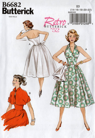 butterick 6682 50s reissued dress and jacket