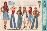 Simplicity 7391 Womens Wrap Skirt Shirt Stretch Top & Pants 1970s Vintage Sewing Pattern Size 12 or 16