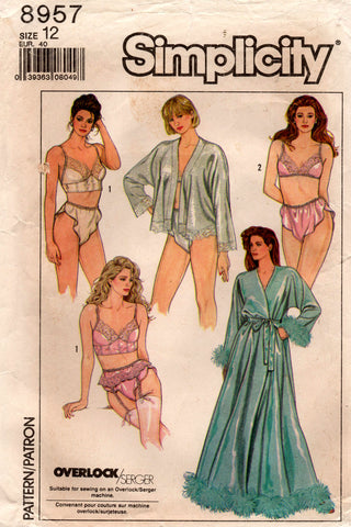 simplicity 8957 80s lingerie pack