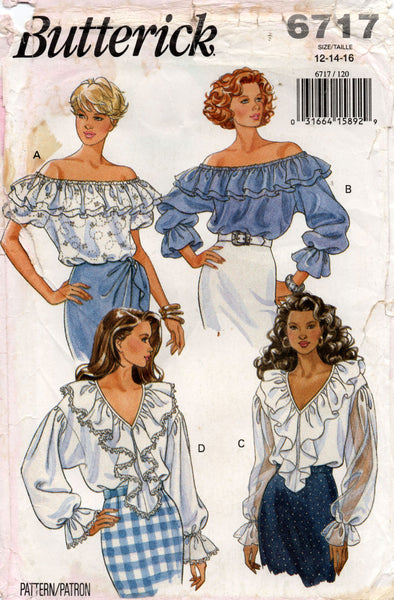 butterick 6717 90s blouses