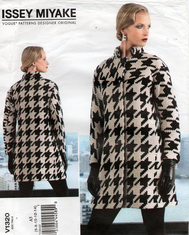 Vogue Designer Original 1320 ISSEY MIYAKE Womens EASY Coat Out of Print Sewing Pattern Sizes 6 - 14 UNCUT Factory Folded