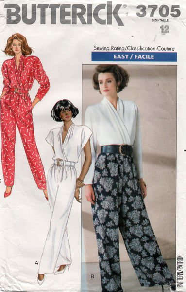 butterick 3705 80s jumpsuit