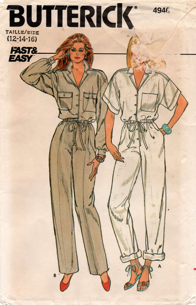 butterick 4946 80s jumpsuit