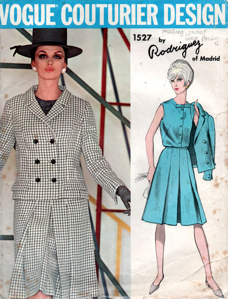 vogue 1527 60s rodriguez skirt suit