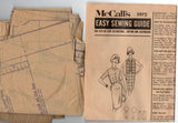 McCall's 5972 Teen Girls Skirt Blouse & Jacket 1960s Vintage Sewing Pattern Size 10T Bust 30 inches