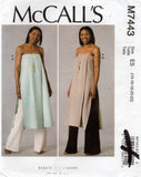 McCall's M7443 Womens Strapless Tunic & Wide Leg Pants Out Of Print Sewing Pattern Size 14 - 22 UNCUT Factory Folded