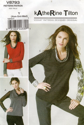 vogue 8793 pullover tops