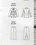 Vogue American Designer 2872 ANNE KLEIN Womens Wide Collared Jacket & Skirt OOP Sewing Pattern Size 14 - 18 UNCUT Factory Folds