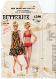 Butterick 4380 Womens Retro Bikini & Tent Dress / Cover Up 1960s Vintage Sewing Pattern Size 14 Bust 34 Inches