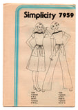 Simplicity 7959 Womens JIFFY Stretch Top Drawstring Skirt & Pants 1970s Vintage Sewing Pattern Size 12 Bust 34 Inches