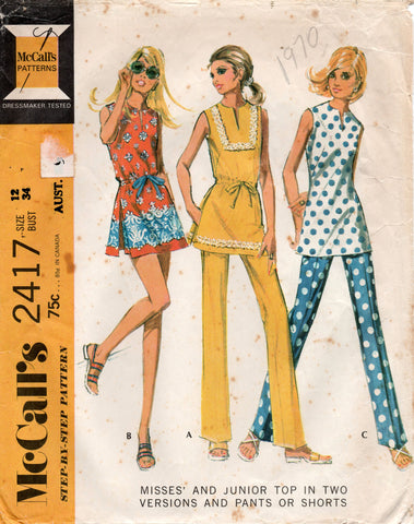 Mccall's 2417 70s separates