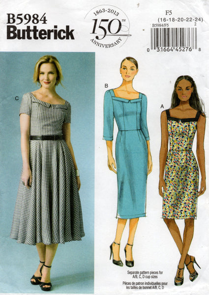butterick 5984 oop dress