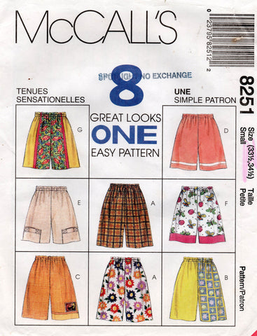 McCall's 8251 90s shorts