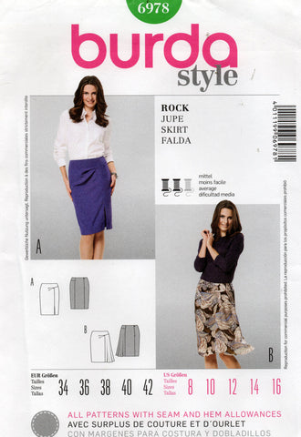 burda 6978 oop skirts