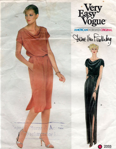 Vogue 2333 DVF dress 70s