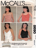 McCall's 8690 80s tops