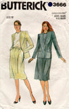 butterick 3666 80s skirt suit