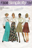 simplicity 7308 70s skirts