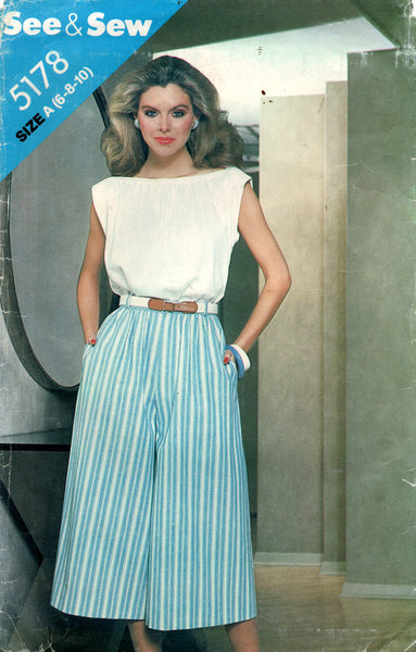 see and sew 5178 90s top and culottes