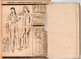 Vogue 9427 Womens High Waisted Pajamas 1940s Vintage Sewing Pattern Bust 36 inches