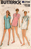 Butterick 3709 Womens Nightshirt & Shorts 1980s Vintage Sewing Pattern Small or Large UNCUT Factory Folds