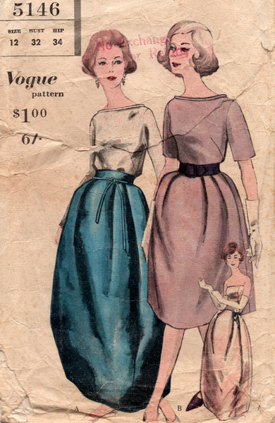 vogue 5146 60s evening wear