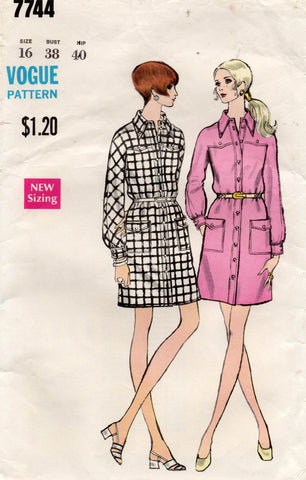 vogue 7744 70s shirtdress