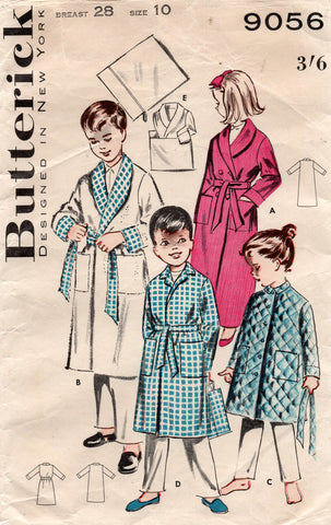 butterick 9056 50s robe