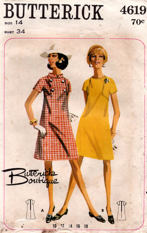 butterick 4619 60s dress