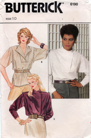 butterick 6190 80s blouse