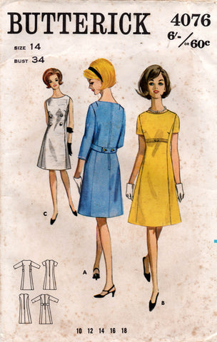 butterick 4076 60s dress