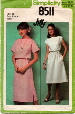 simplicity 8511 80s jiffy dress