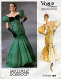 vogue 1819 belville sassoon 80s dress