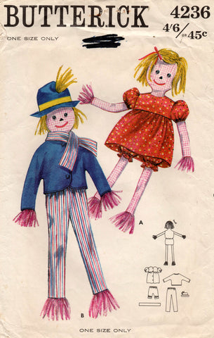 butterick 4236 scarecrow toys