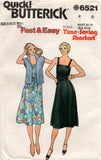 Butterick 6521 80s dress and jacket
