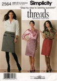 Simplicity 2564 Threads Magazine Collection Womens Blouse & Skirt OOP Sewing Pattern Sizes 16 - 24 UNCUT Factory Folded