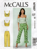 McCall's M7937 Womens Bra Top & Capri Pants Sewing Pattern Size 6 - 14 or 14 - 22 UNCUT Factory Folds