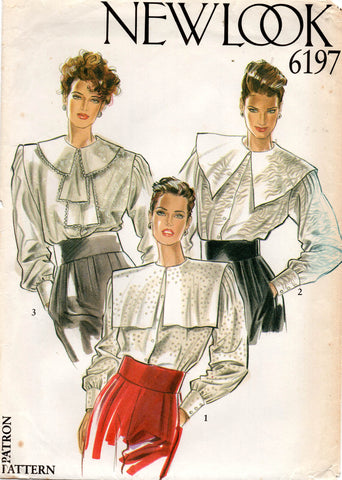 new look 6197 80s blouses
