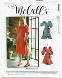 McCall's M8036 Womens #SashaMcCalls Ruffled Puff Sleeved Wrap Dress Sewing Pattern Size 6 - 14 & 14 - 22 UNCUT Factory Folded