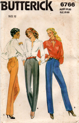 butterick 6766 80s jeans
