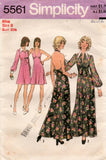Simplicity 5561 Womens High Waisted Halter Dress & Full Sleeved Jacket 1970s Vintage Sewing Pattern Size 8