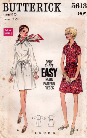 butterick 5613 60s dress
