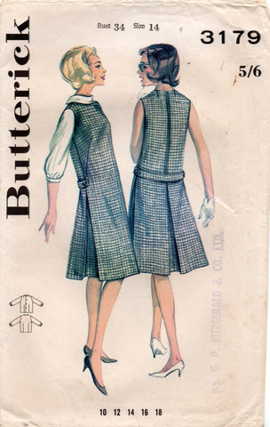 butterick 3179 60s dress and blouse