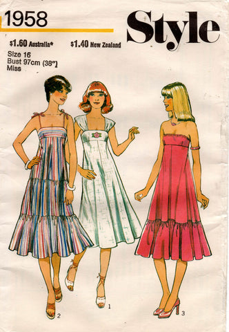 style 1958 70s tent dress