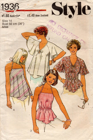 style 1936 70s summer tops